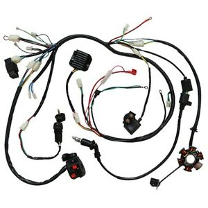 Electrics Wire Harness CDI Coil Solenoid For GY6 150cc ATV