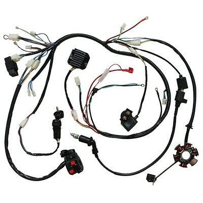 Full Electrics Wiring Harness Quad ATV Buggy GY6 150cc