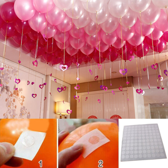 300pcs points Balloon Attachment Glue Dot Ceiling Party
