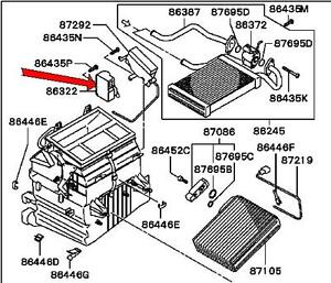 2002-2003 MITSUBISHI GALANT HEATER CONTROL MOTOR GENUINE