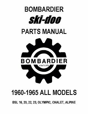 Bombardier Ski-Doo parts manual 1961 BSL 16, 20, 22, 23