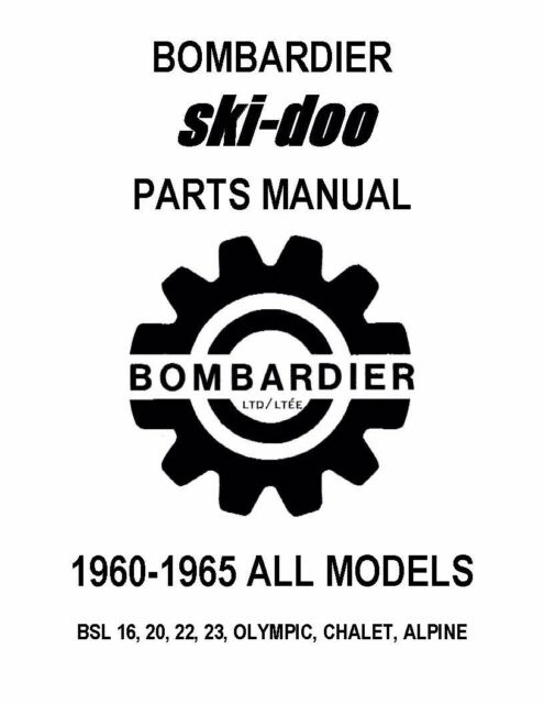 Bombardier Ski-Doo parts manual 1960 BSL 16, 20, 22, 23