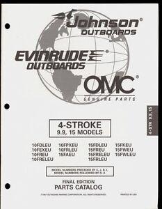 1997 OMC /JOHNSON / EVINRUDE 4 STROKE 9.9 & 15 HP OUTBOARD