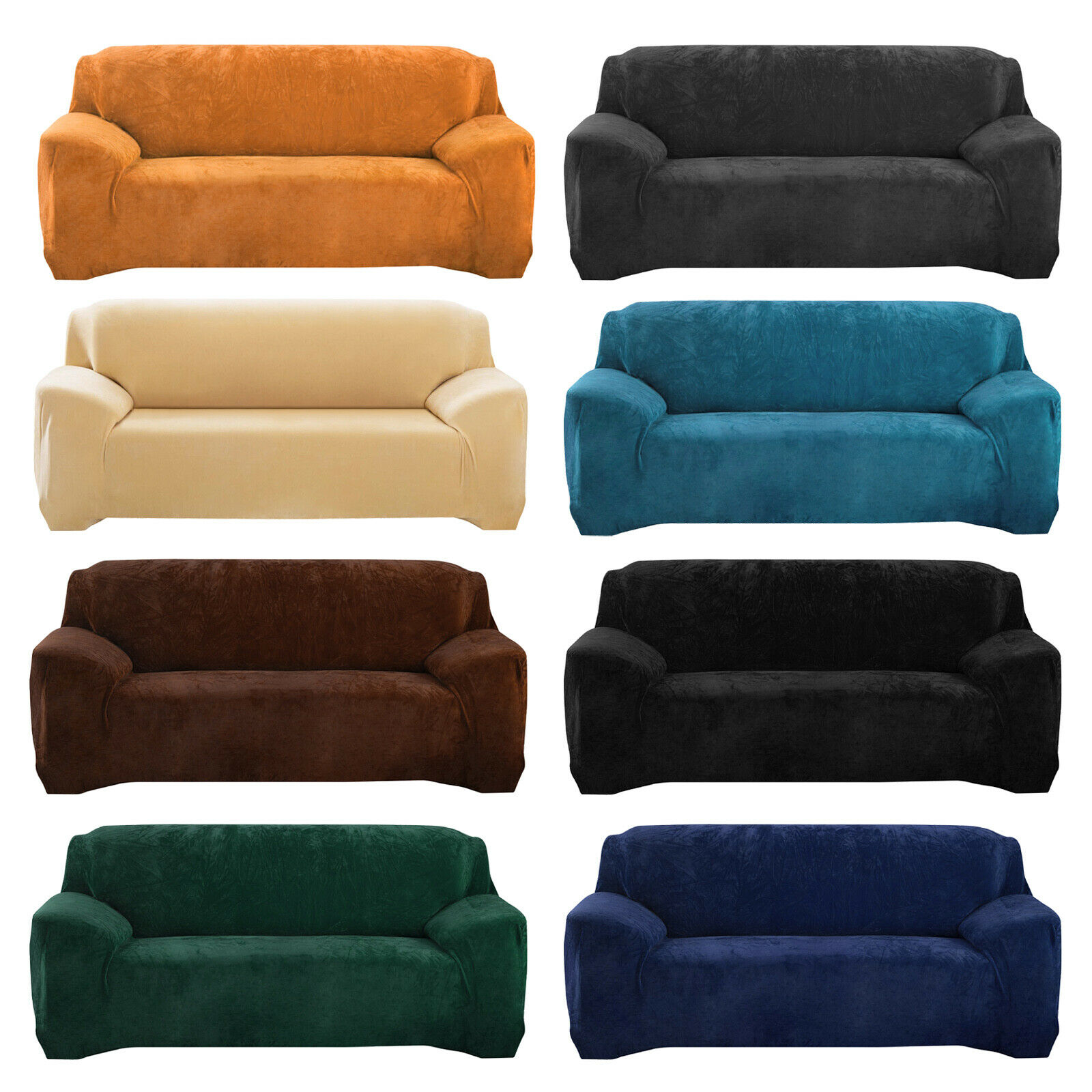 1 2 3 4 seater velvet stretch sofa covers chair slipcover furniture protector