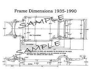 1972 Ford Torino Station Wagon NOS Frame Dimensions Wheel