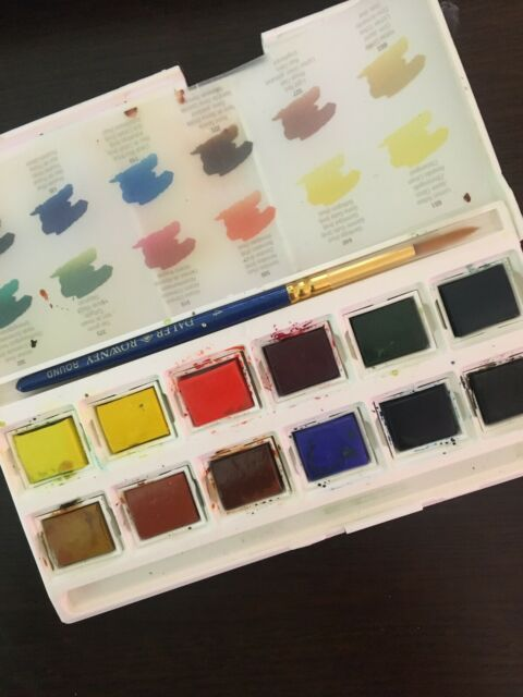 Daler Rowney Aquafine Watercolor Review | The Frugal Crafter Blog