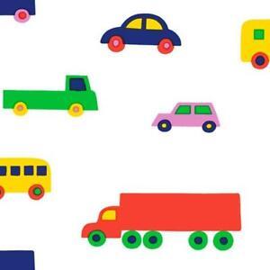 Marimekko Wallpaper Cars 23370 Marimekko 5 Toy Cars Vans Lorries Busses