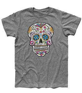 Camiseta De Hombre Calavera Mexicana Antigüedad Tatuaje Vieja
