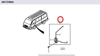 Genuine Manual Antenna Mercedes Benz MB VAN MB 100 MB 140