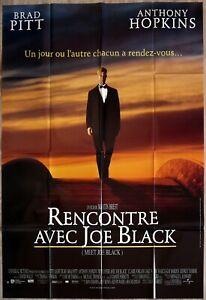 Rencontre Avec Joe Black : rencontre, black, Black, Original, French, Movie, Poster, 47x63