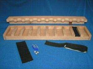10 gun wood closet gun rack with