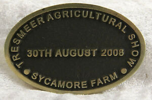 Tresmeer Agricultural show 30/08/2008 Sycamore Farm badge plaques transport