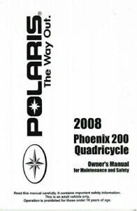 2008 Polaris Quadricycle 200 ATV Owners Manual : 9921503