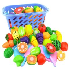 Kids Kitchen Toys Gray Towels Fruit Vegetable Food Pretend Role Play Cutting Set 6x Pretendrole Playcutting Affordable