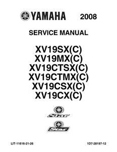 New Yamaha Raider Roadliner Stratoliner Service Manual