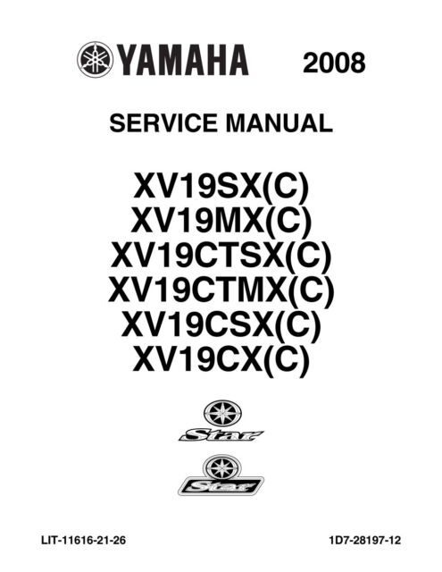 New Yamaha Raider Roadliner Stratoliner Service Manual