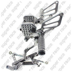 Gray CNC Adjustable Rearsets Footpegs Footrests Footrest