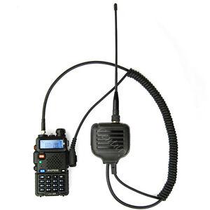 Speaker Mic Dual Band Antenna for Wouxun KG-UVD1P Bafeong