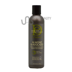 design essentials natural almond avocado shampoo 8 oz w free nail file