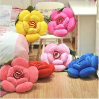 Fancy 3D Rose Flower Pillow Plush Sofa Chair Cushion Home ...