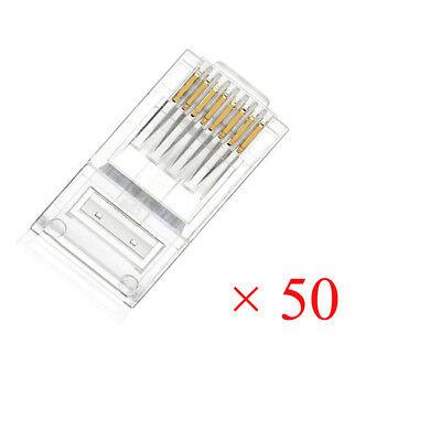 RJ45 Modular Plug Network Connector Cat5 Cat5e Cat6 Solid