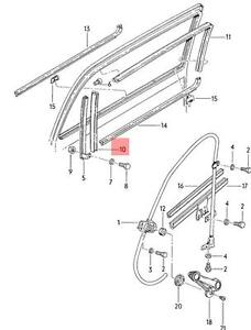 Genuine Window Guide Seals Gaskets 2pcs VW Golf Jetta