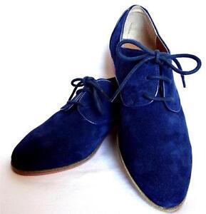 DV Dolce Vita Mini Loafer Navy Suede Flats Shoes Lace Up Blue Orange Women NEW EBay
