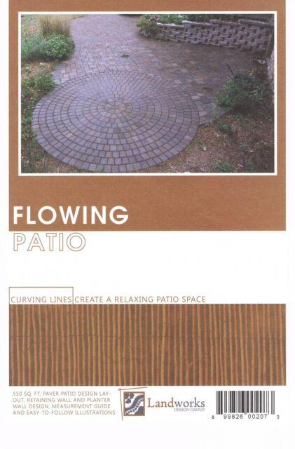landscape plans flowing patio brick paver layout landworks design group diy