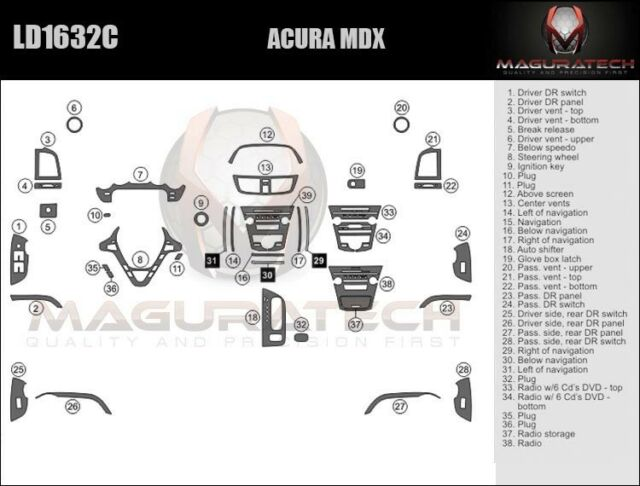 Fits Acura MDX 2011-2013 No Navigation With DVD Large
