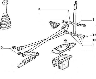 Fiat Panda 4x4 Kit de engranaje Palanca Acoplamiento Bush