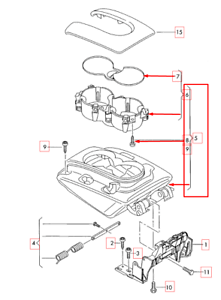 Audi Q7 4L Front Center Console Armrest 4L086420540X NEW