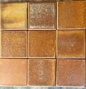details about fulper glaze tiles copper dust 4 x 4 arts and craft handmade ceramic tile