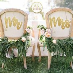 Mr And Mrs Chair Signs Arne Jacobsen Swan Wedding Decoration Glitter Image Is Loading