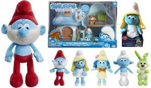 Smurfs 3 The Lost Village Toys Plush Talking Smurfette Jumbo Papa Smurf Bucky Ebay