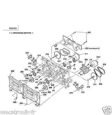 Kit 4 Courroies K7 pour chaine Sony HCD451 HCD-451 HCDH51