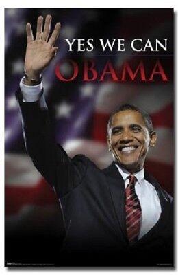 Barack Obama Yes We Can : barack, obama, PRESIDENT, BARACK, OBAMA, POSTER, POLITICAL, COLLECTIBLE, 22x34