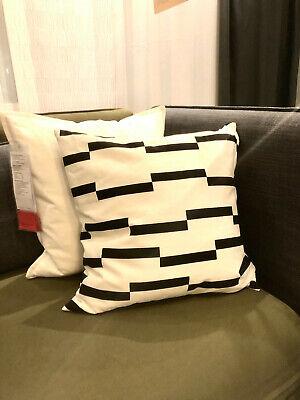 Ikea Kinnen Noir Blanc Housse De Coussin Decoratif Taie D Oreiller 50x50cm Ebay