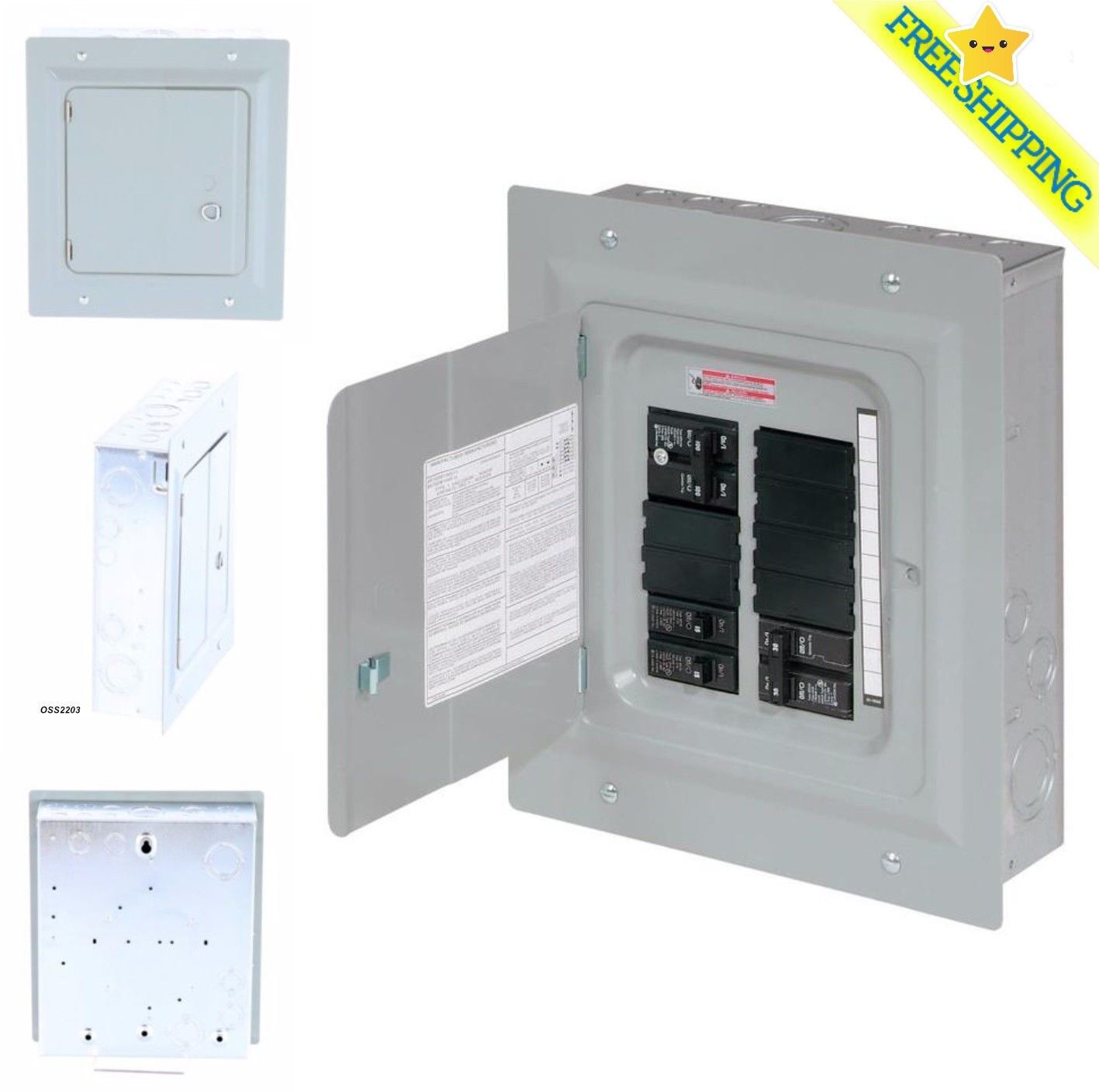 hight resolution of eaton br1224b100gk loadcenter replacement breaker panel cover type br 20 inch for sale online ebay