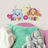 PAW PATROL GIRL PUPS SKYE EVEREST Wall Decals BE HAPPY ...