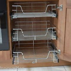 Pull Out Kitchen Cabinet Design Wire Baskets Larder Image Is Loading Cupboards