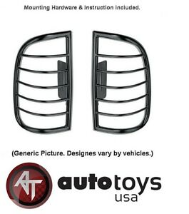 ATU Black Tail Light Guards Covers for 2005 2010 Jeep