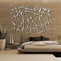 Abstract Stainless Steel Wall Sculpture Art Metal Decor ...
