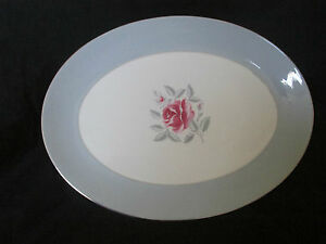 Vintage Flintridge China 14quot Serving Platter Miramar Gray