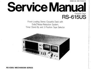 TECHNICS RS-615US STEREO CASSETTE DECK SERVICE MANUAL INC