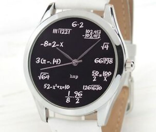 Image Is Loading Math Watch Black Math Teacher Gift Funny Gifts