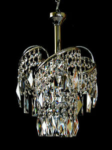 Image Is Loading Small Fine Crystal Chandelier With Real Crystals In