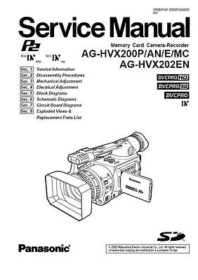 Panasonic AG-HVX200 HVX202 Service Manual & Repair Guide