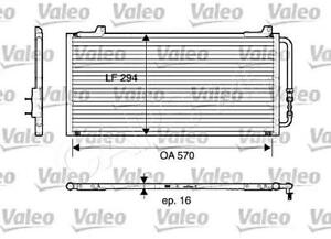 ROVER 25 45 200 400 1995- AC Air Conditioning Condenser 1