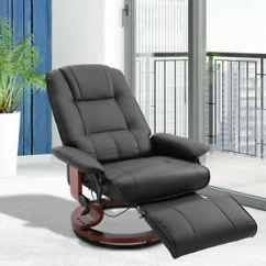 Leather Swivel Recliner Chair And Ottoman Christmas Hat Covers Faux Adjustable Traditional Manual Image Is Loading
