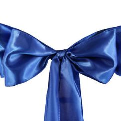 Royal Blue Chair Covers Outdoor Swing 10 Satin Sashes Ties Bows Wedding Party Reception Image Is Loading